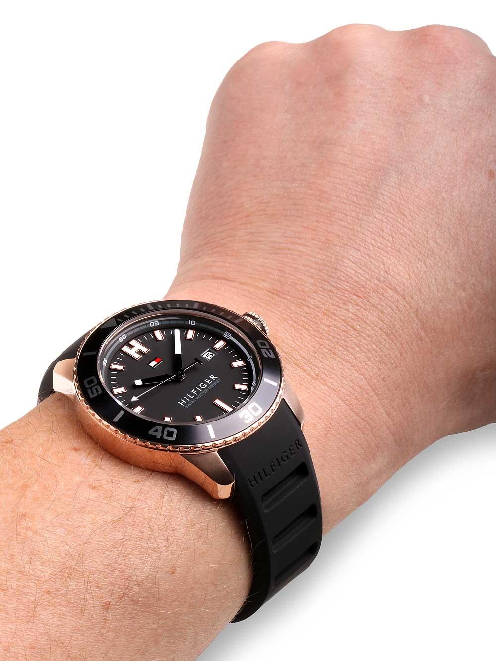 watches chrono12 tommy hilfiger 1791266 herrenuhr 46mm. Black Bedroom Furniture Sets. Home Design Ideas
