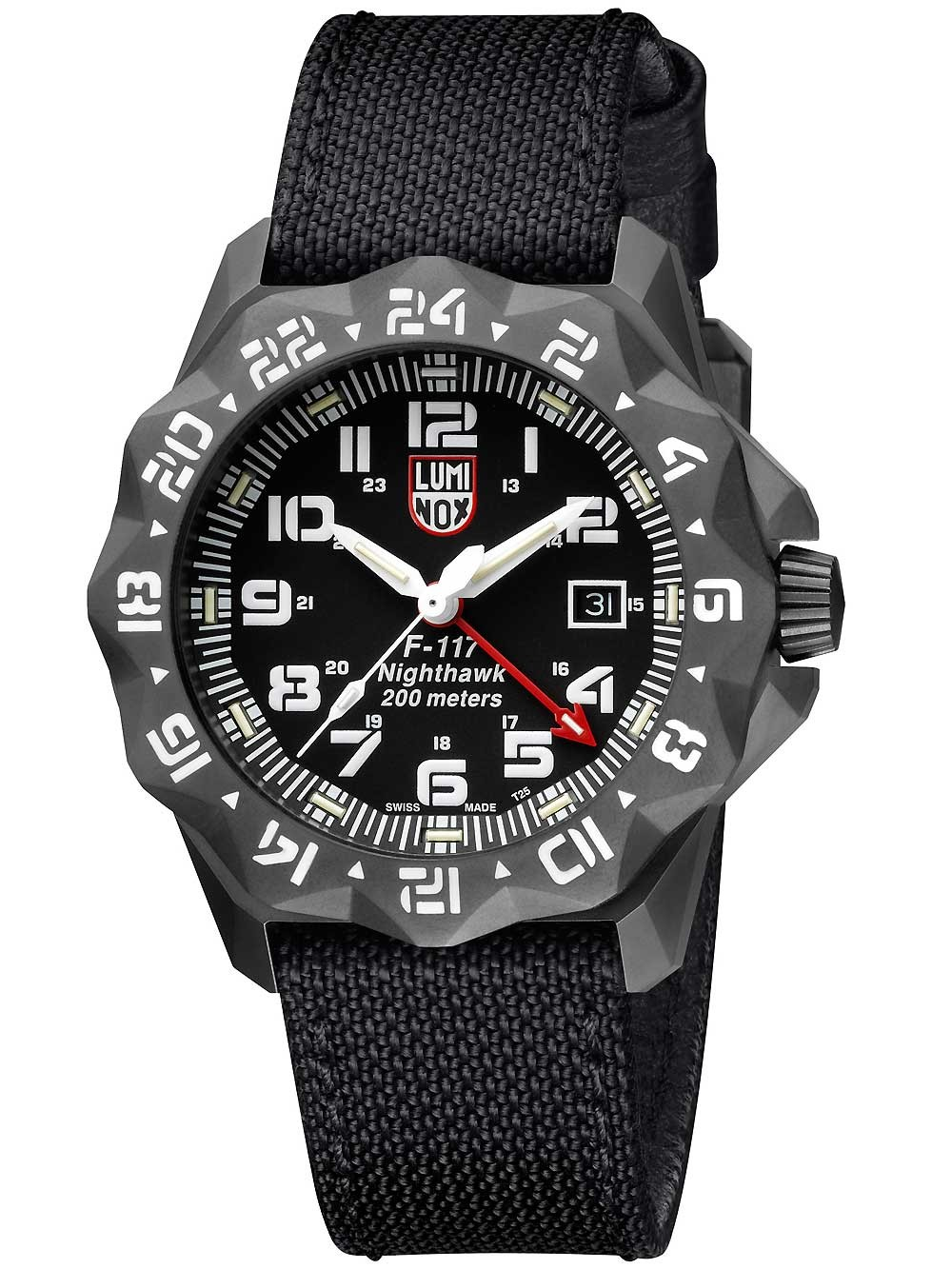 Ceas barbatesc Luminox XA.6421 Nighthawk 6400 Serie 44mm 200M