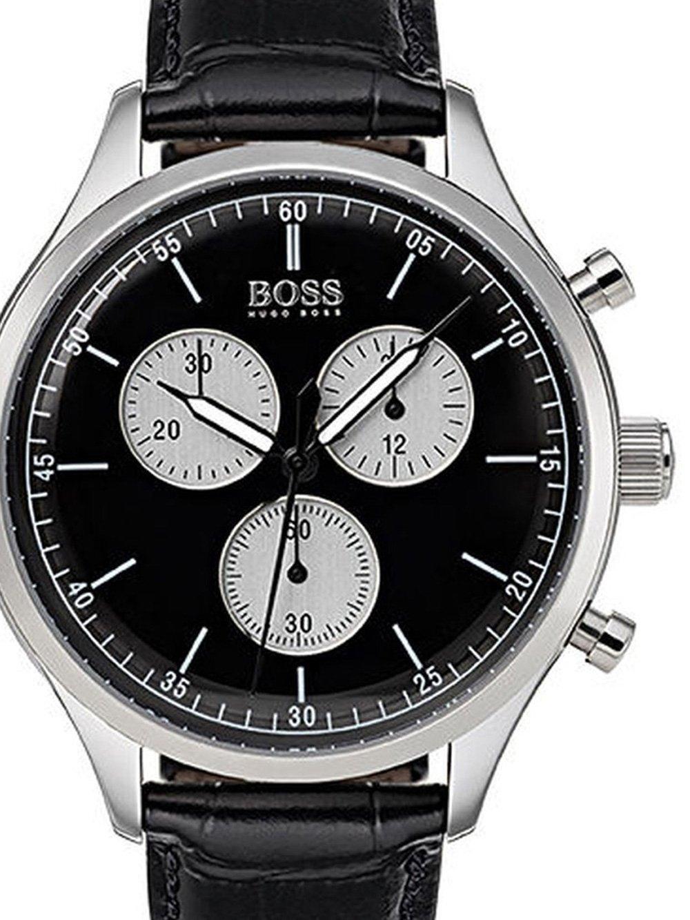 ceas barbatesc hugo boss 1513543 companion chrono. 43mm 5atm