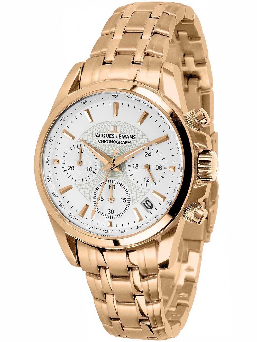 ceas de dama jacques lemans 1-1752m liverpool chrono 36mm 10atm