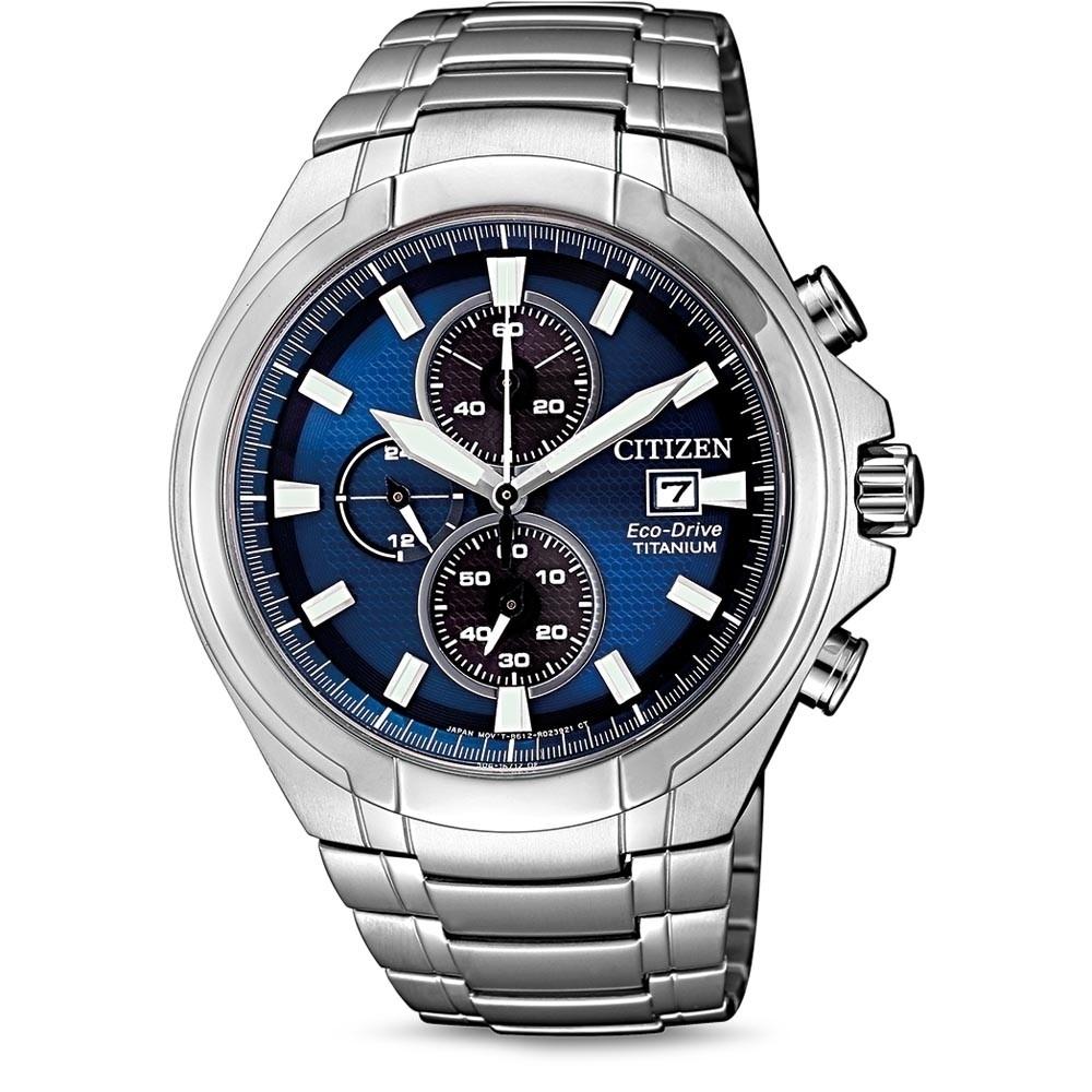 ceas barbatesc citizen ca0700-86l eco-drive super-titanium chrono 43mm 10atm