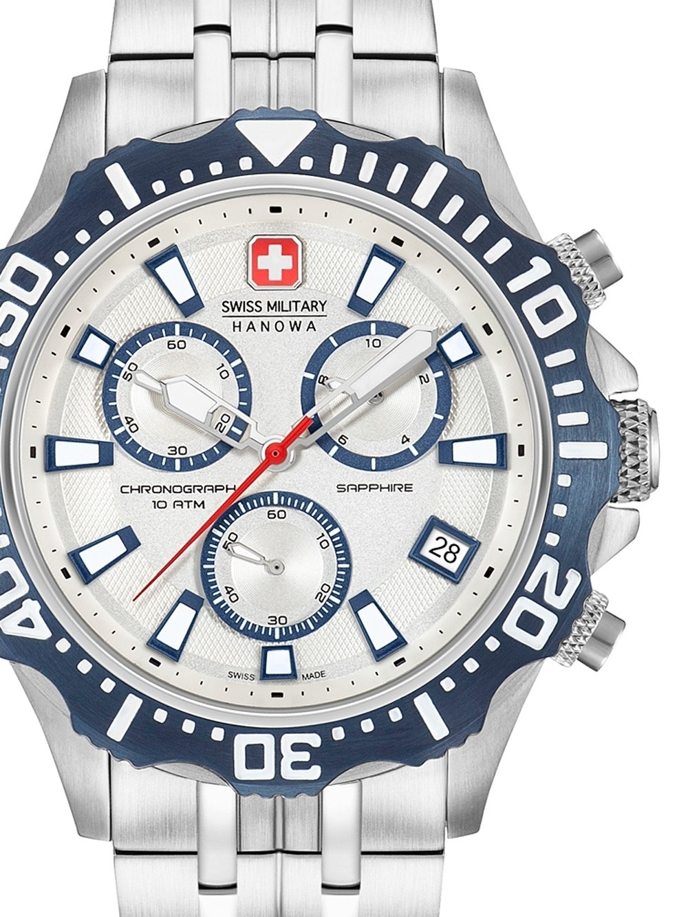 ceas barbatesc swiss military hanowa 06-5305.04.001.03 patrol chrono 45mm 10atm