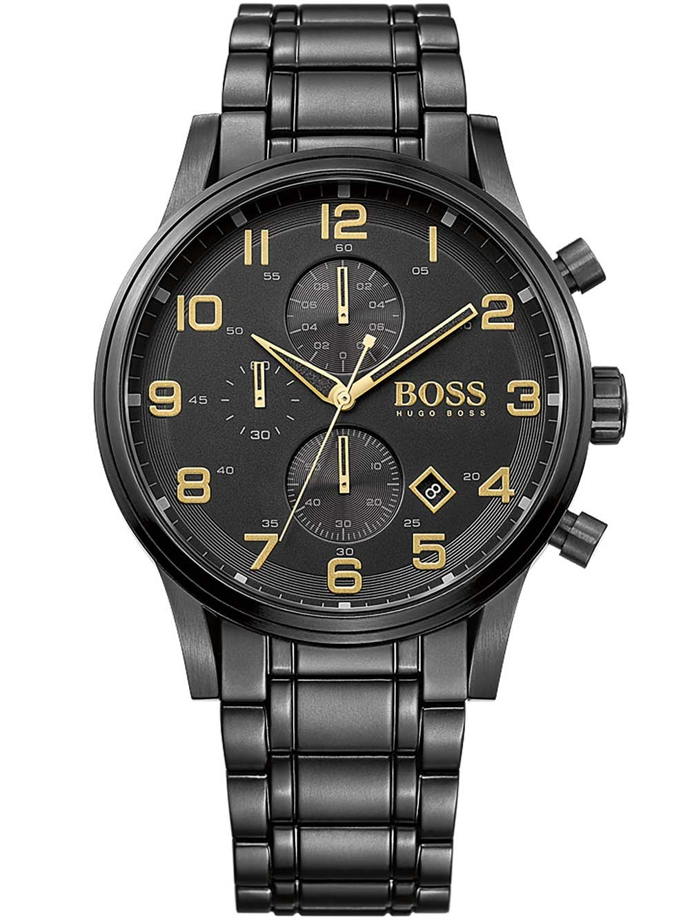 ceas barbatesc hugo boss 1513275 aeroliner chrono 5atm 44mm