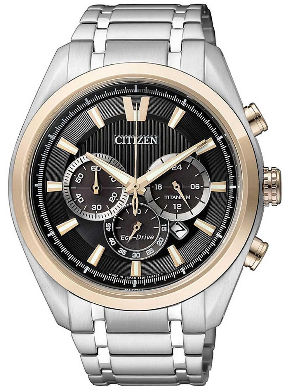 ceas barbatesc citizen ca4014-57e cronograf eco-drive super-titan 43 mm