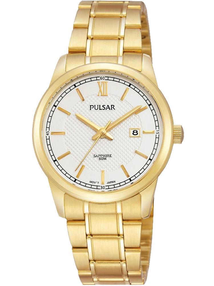 watches chrono12 pulsar ph7400x1 damenuhr 50m gold 30mm. Black Bedroom Furniture Sets. Home Design Ideas