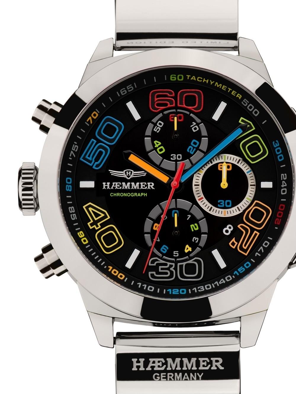 ceas barbatesc haemmer cr-04 grand creator claude chrono 48mm 10atm