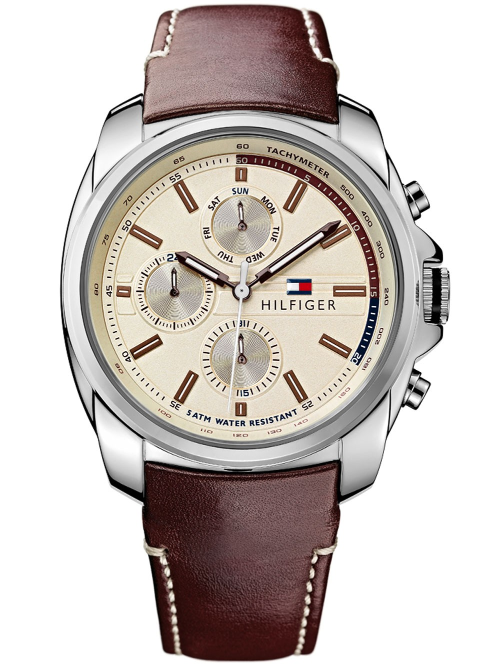 ceas barbatesc tommy hilfiger preston 1791079 functii multiple 45 mm