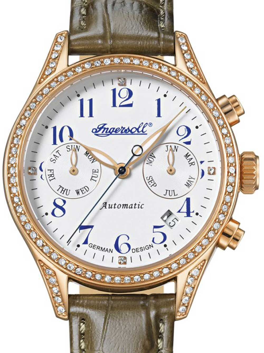 ceas de dama ingersoll in7401rwh seminole automatic 36mm 5atm
