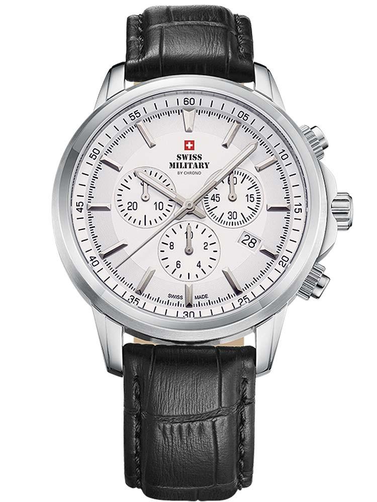 ceas barbatesc swiss military sm34052.09 cronograf saphir 42mm 10atm