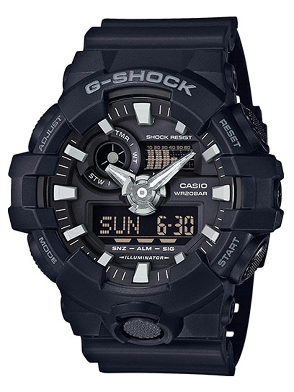ceas barbatesc casio ga-700-1ber g-shock 53mm 20atm