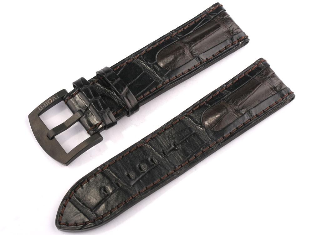 Curea de ceas U-Boat Ref. 6491 IPB 23/22 braun-schwarz Alligatorleder