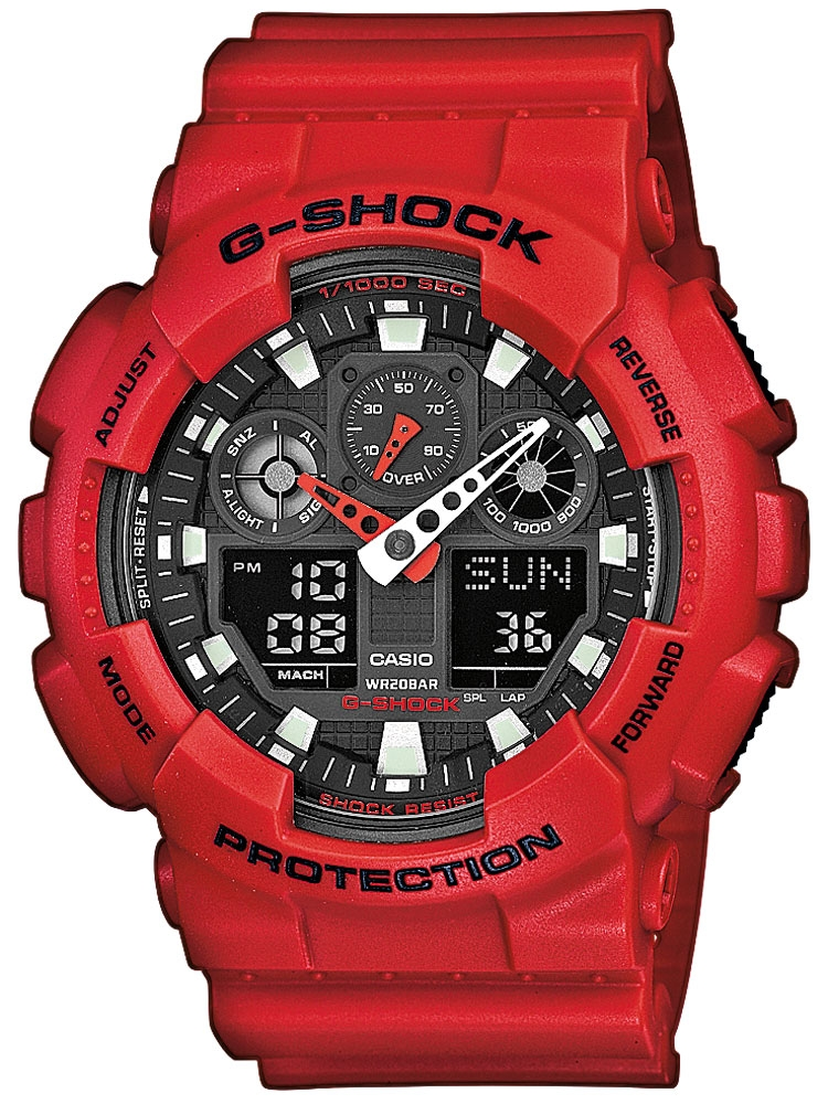 Ceas barbatesc Casio G-Shock GA-100B-4AER Analog-Digital 20 ATM 51 mm
