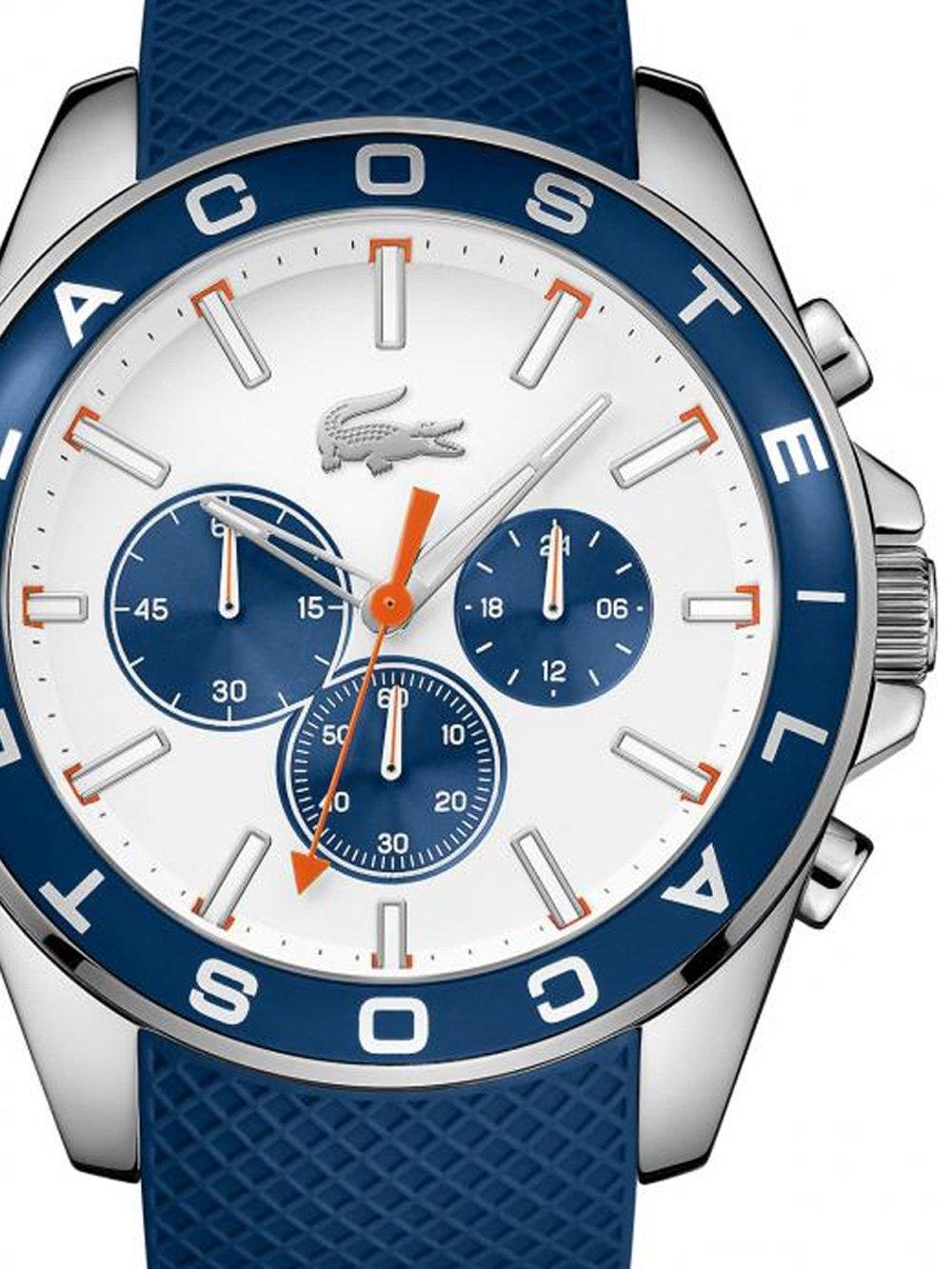 ceas barbatesc lacoste 2010854 westport chrono. 45mm 5atm