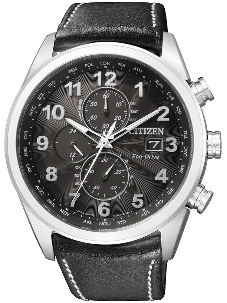 ceas barbatesc citizen eco-drive at8011-04e chrono cu functii saphir, 43 mm, 20 atm
