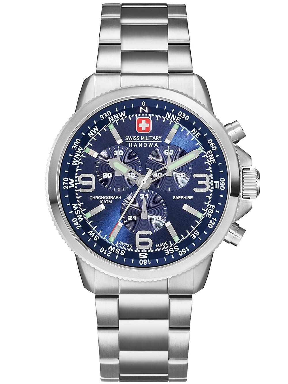 ceas barbatesc swiss military hanowa 6-5250.04.003 arrow chrono 10atm 46mm