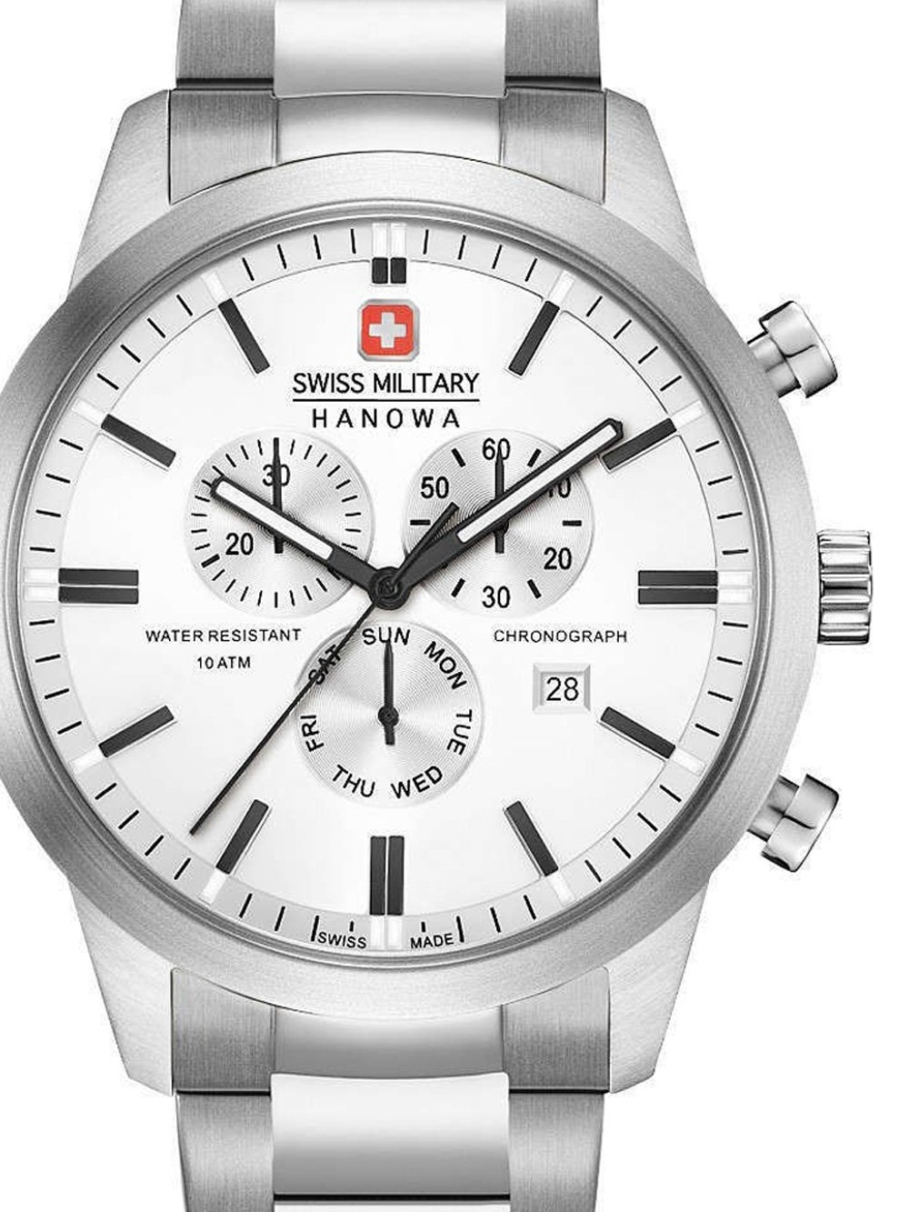 ceas barbatesc swiss military hanowa 06-5308.04.001 classic chrono 44mm 10atm