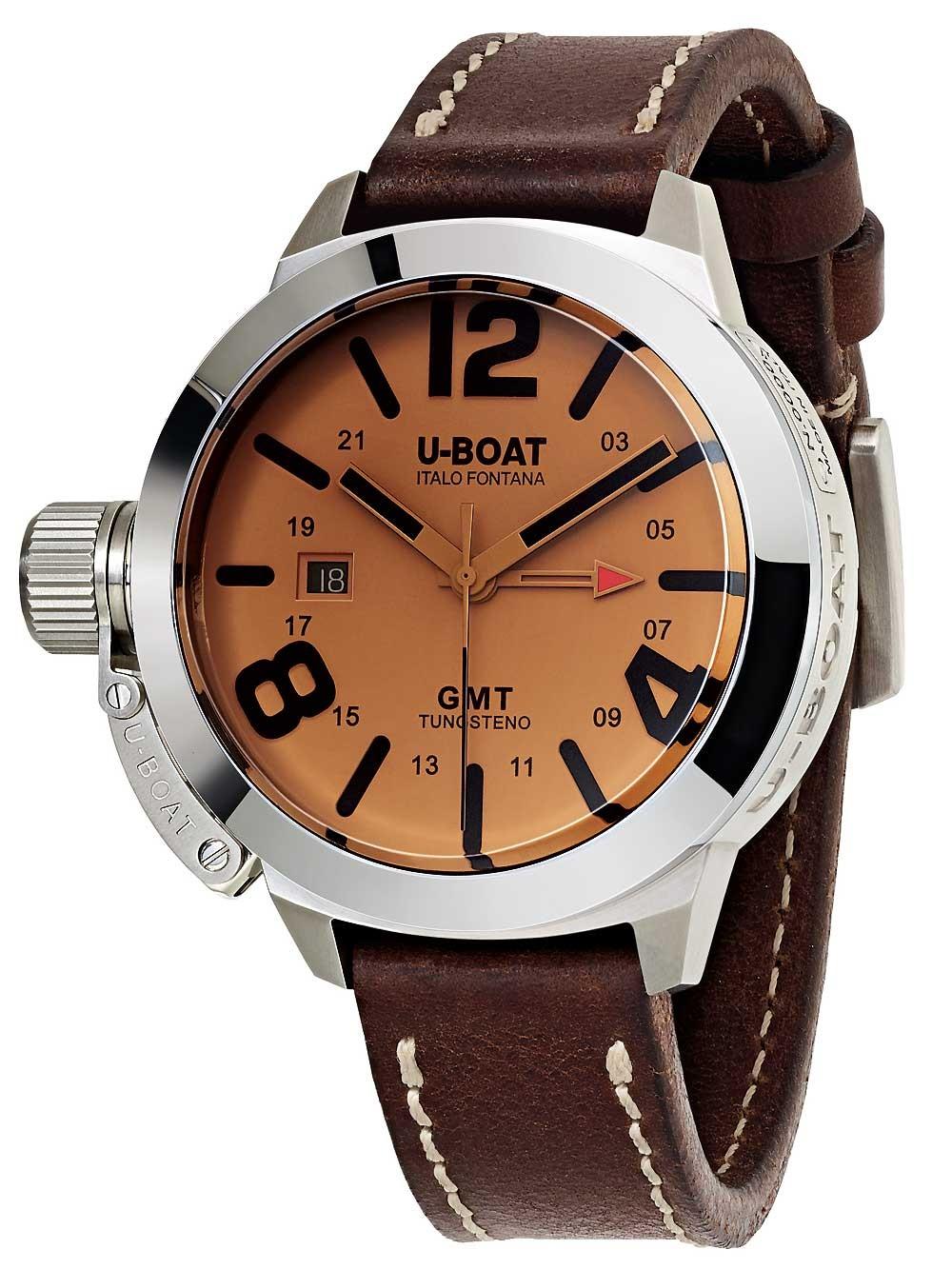 Ceas barbatesc U-Boat 8051 Classico GMT Tungsteno Automat 45mm