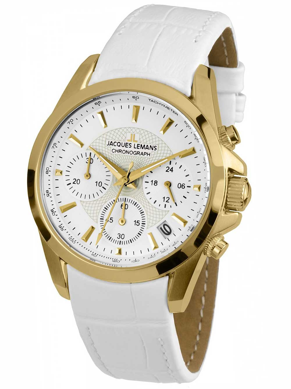 ceas de dama jacques lemans 1-1752d liverpool chrono 36mm 10atm