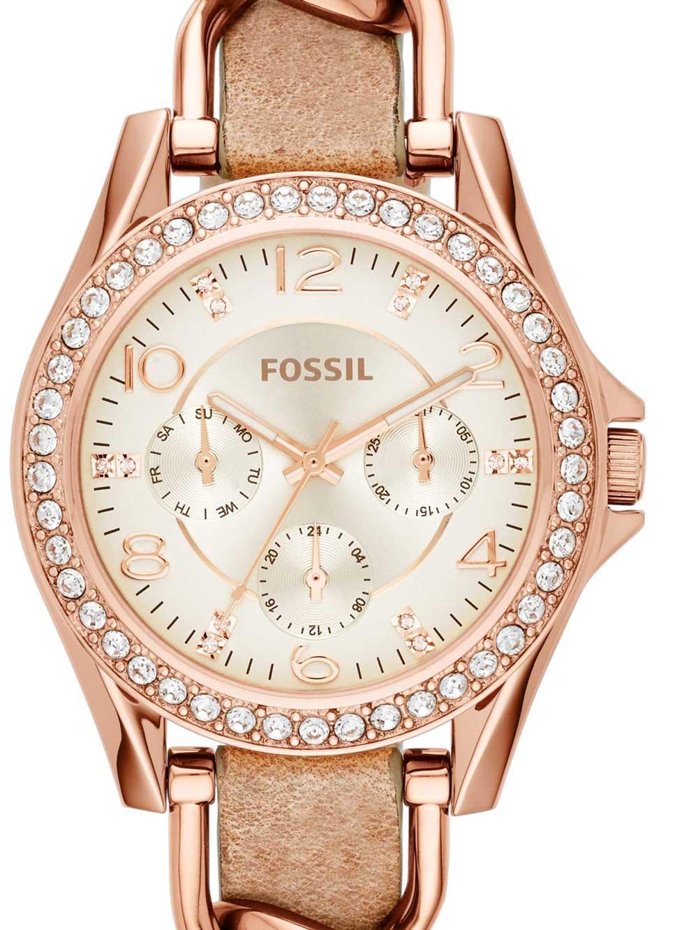 watches chrono12 fossil es3466 riley damen 38mm 10atm. Black Bedroom Furniture Sets. Home Design Ideas
