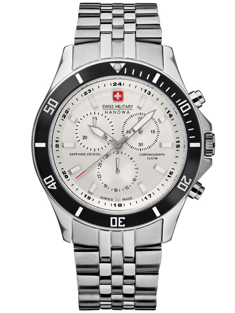 ceas barbatesc swiss military hanowa flagship 06-5183.04.001.07 cronograf 42 mm