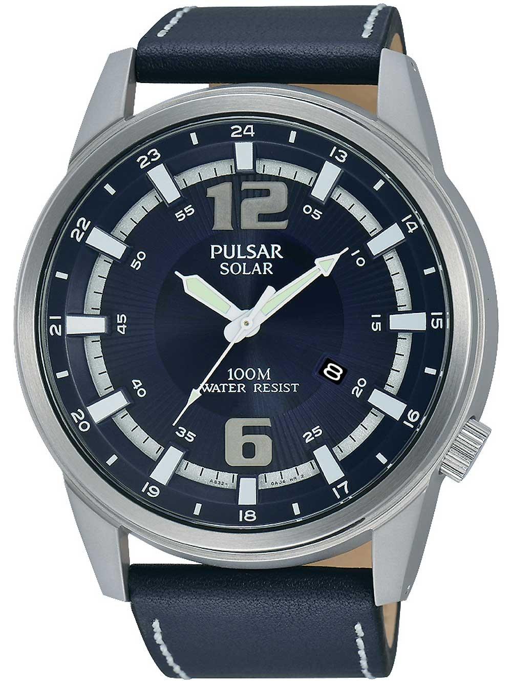 ceas barbatesc pulsar px3083x1 solar 47mm 10atm