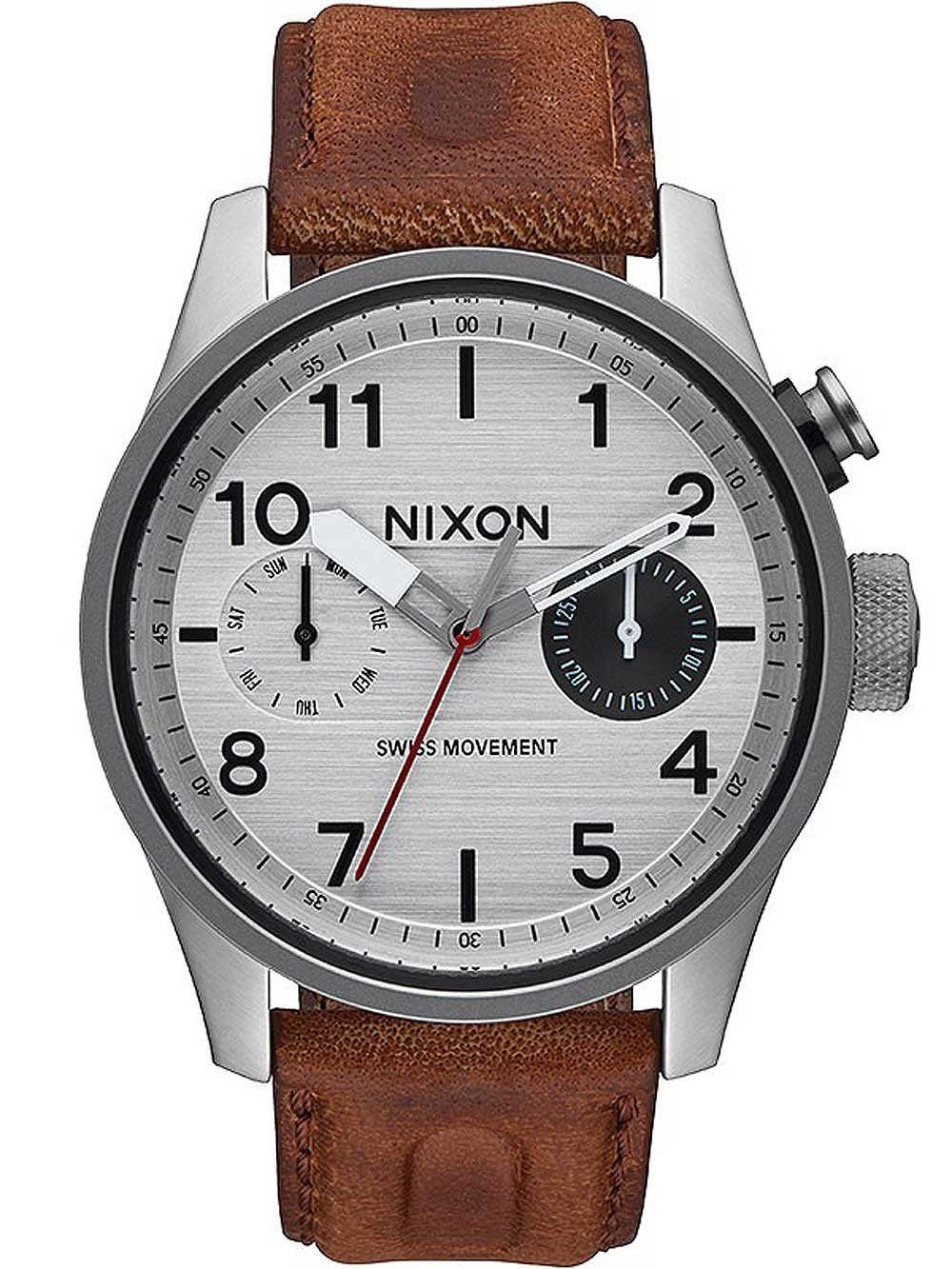 ceas barbatesc nixon a977-1113 safari functii multiple 43mm 10atm