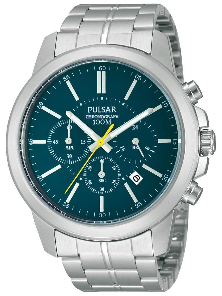 Ceas barbatesc Pulsar PT3483X1 Cronograf 44 mm 10 ATM