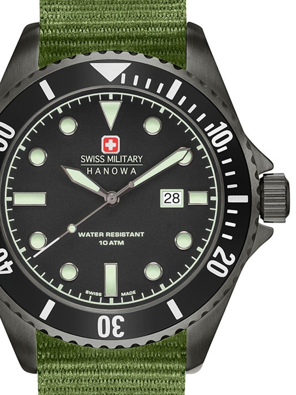 ceas barbatesc swiss military hanowa 06-8279.13.007set sea lion set 44mm 10atm