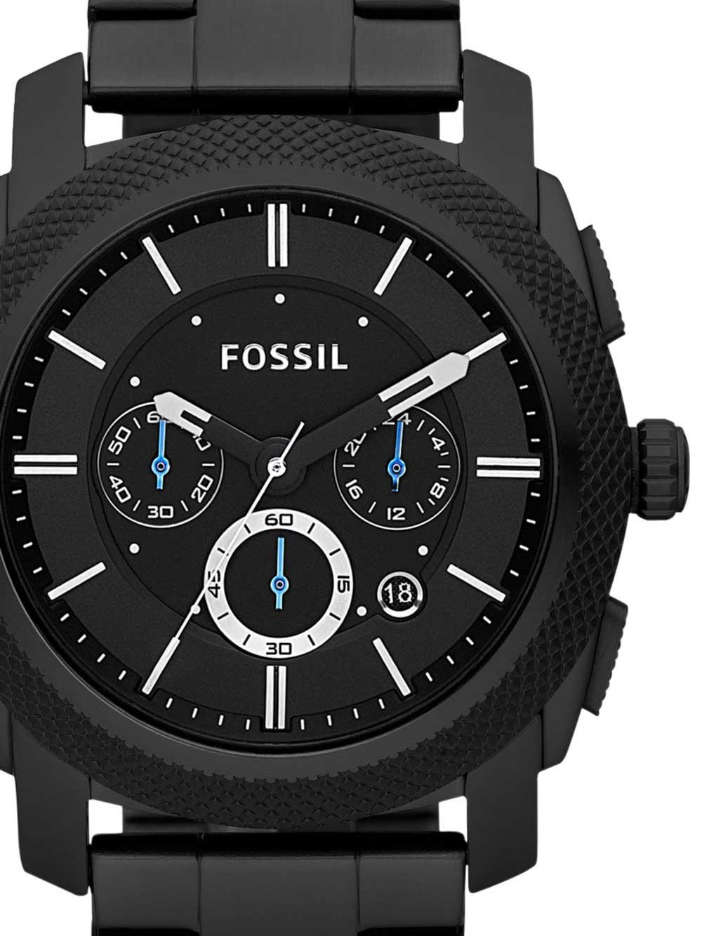 ceas barbati fossil fs4552 machine chrono 45mm 5atm