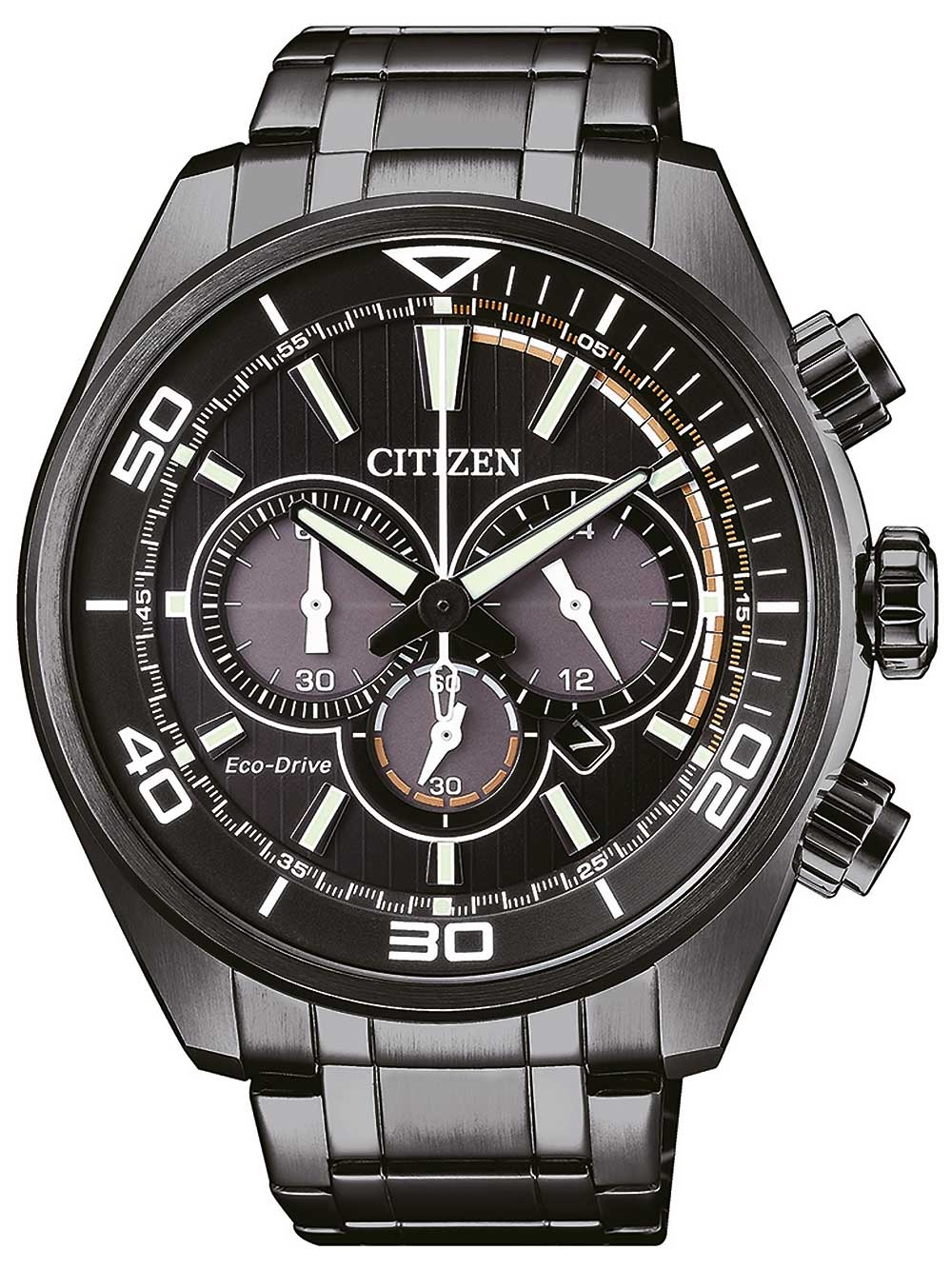 ceas barbatesc citizen ca4335-88e eco-drive chronograf 45mm 10atm