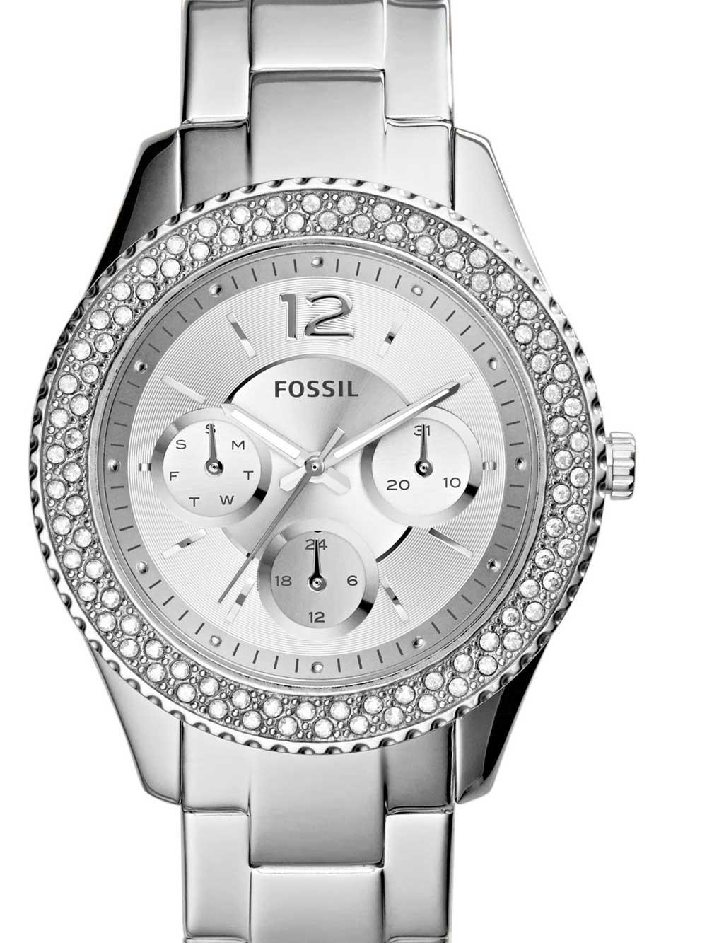 watches chrono12 fossil es3588 stella damen 38mm 5atm. Black Bedroom Furniture Sets. Home Design Ideas