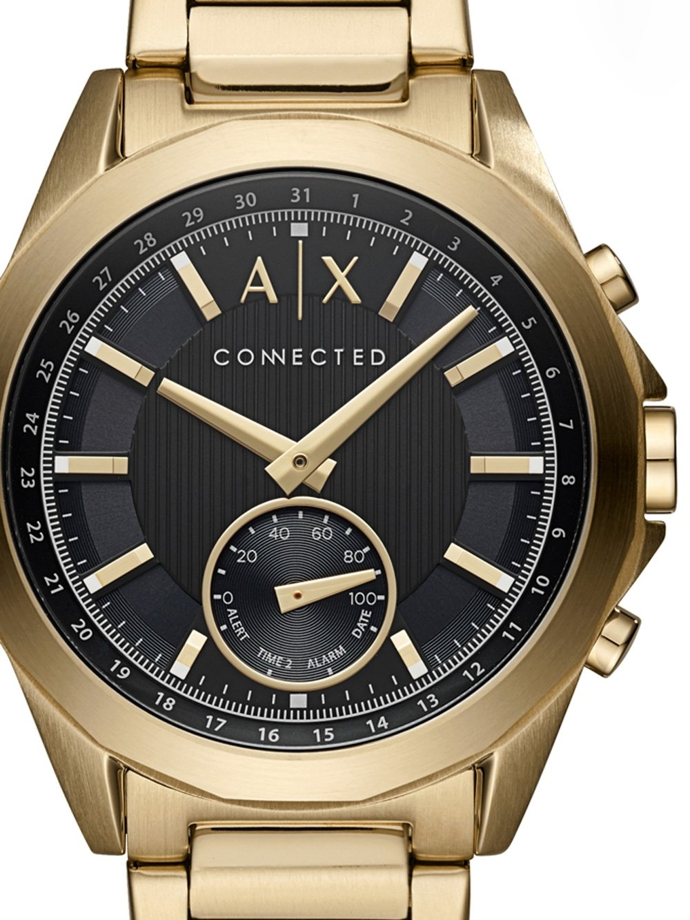 ceas barbatesc armani exchange axt1008 hybrid smartwatch 44mm 5atm