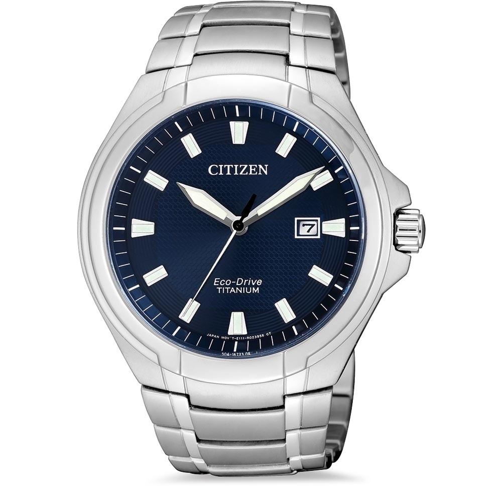 ceas barbatesc citizen bm7430-89l eco-drive super-titanium 42mm 10atm