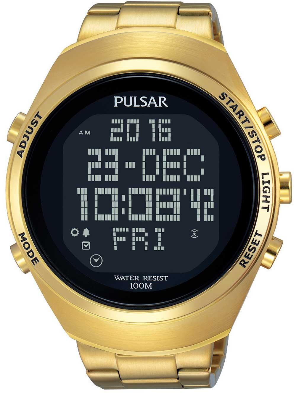ceas barbatesc pulsar pq2056x1 digital 46mm 10atm