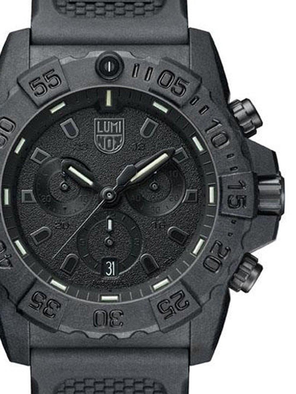 ceas barbatesc luminox xs.3581.bo navy seal chrono. 45mm 20atm