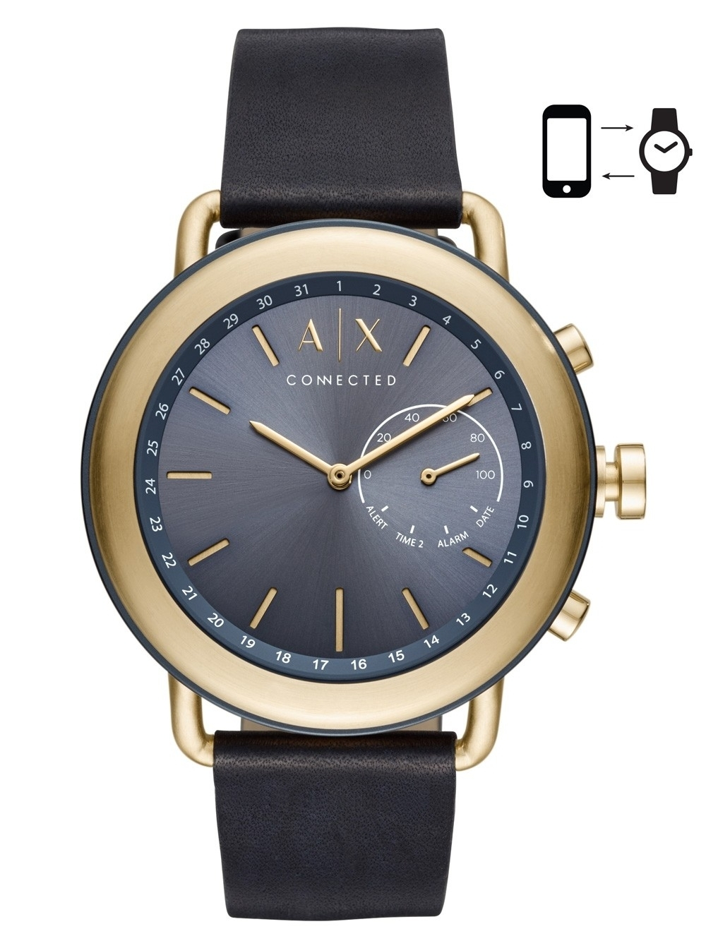 ceas barbatesc armani exchange ax1023 connected smartwatch 46mm 5atm