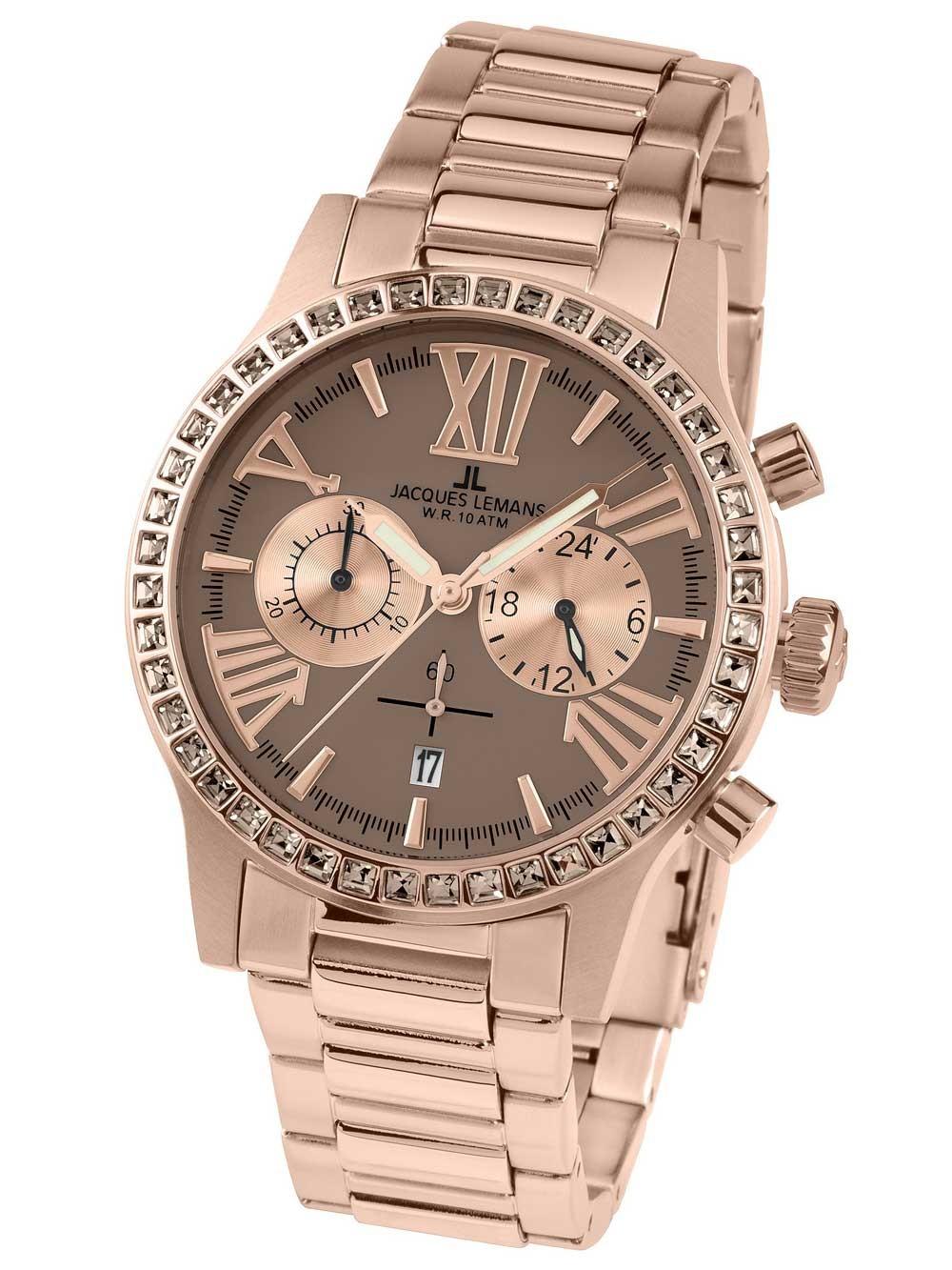 ceas de dama jacques lemans 1-1810h porto chrono 42mm 10atm