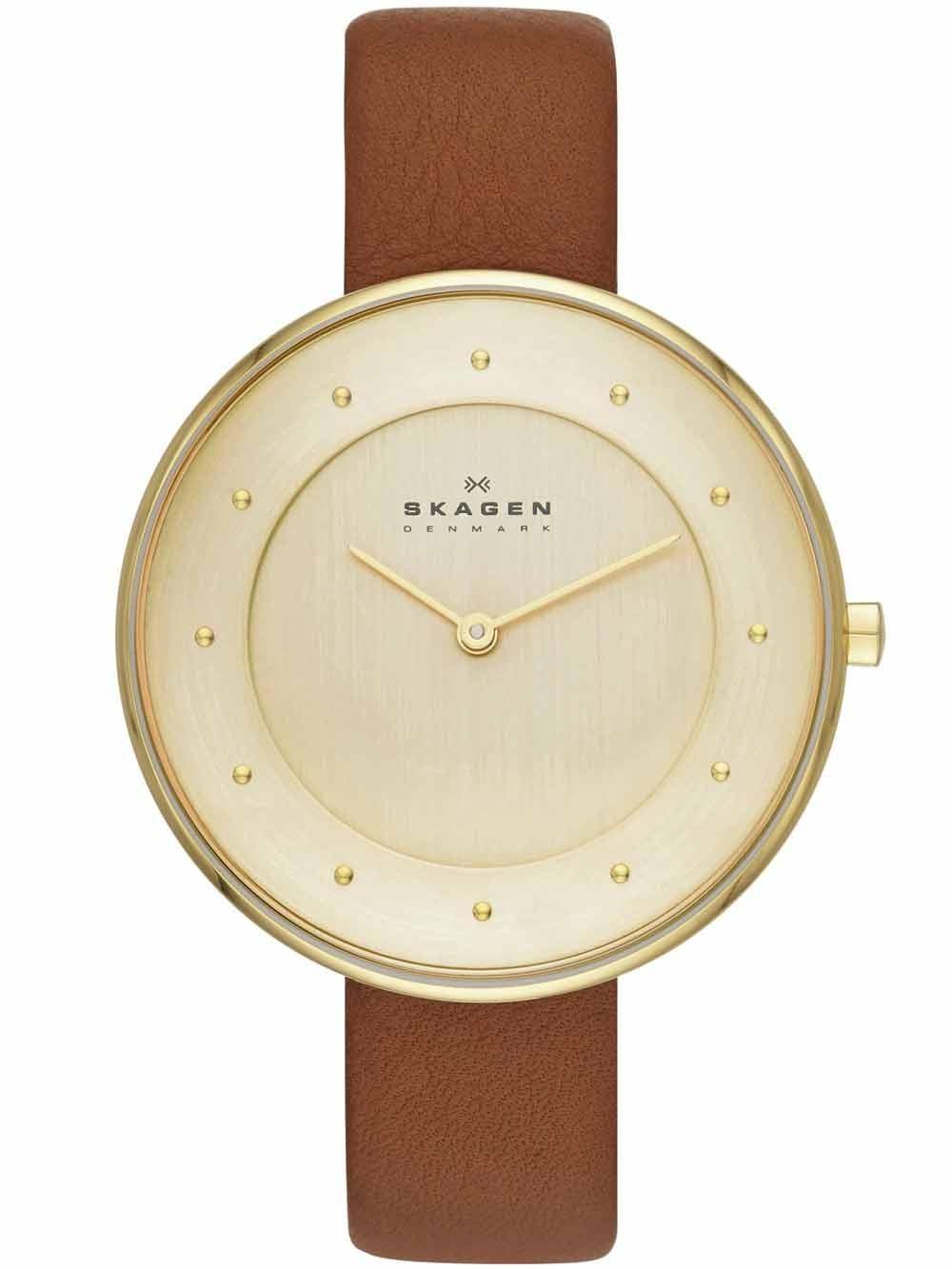 watches chrono12 skagen skw2138 gitte damenuhr gold. Black Bedroom Furniture Sets. Home Design Ideas