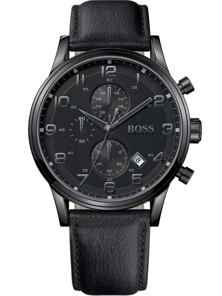watches chrono12 hugo boss 1512567 chronograph herren 44 mm 5atm. Black Bedroom Furniture Sets. Home Design Ideas