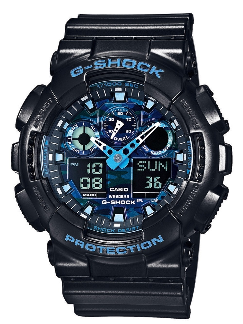 ceas barbatesc casio ga-100cb-1aer g-shock 51mm 20atm