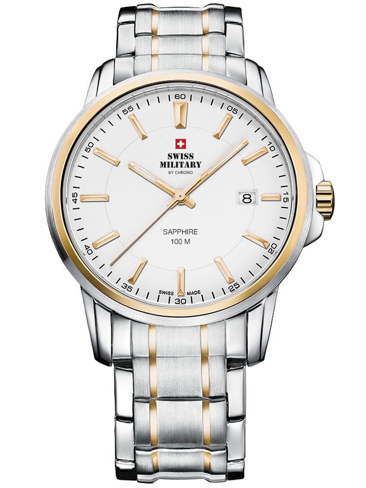 ceas barbatesc swiss military sm34039.05 saphir, 10 atm, 40 mm