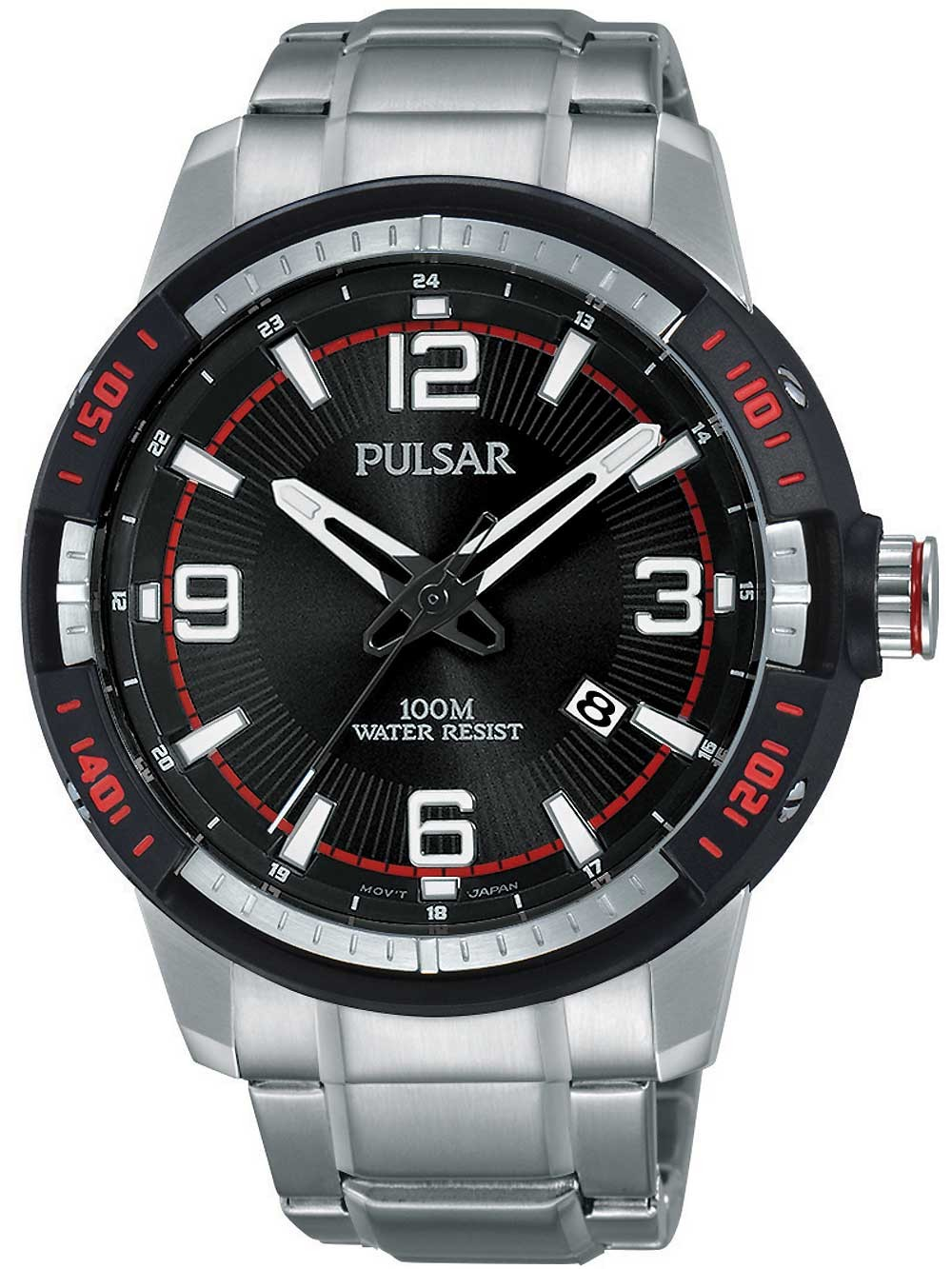 ceas barbatesc pulsar ps9475x1 45mm 10atm