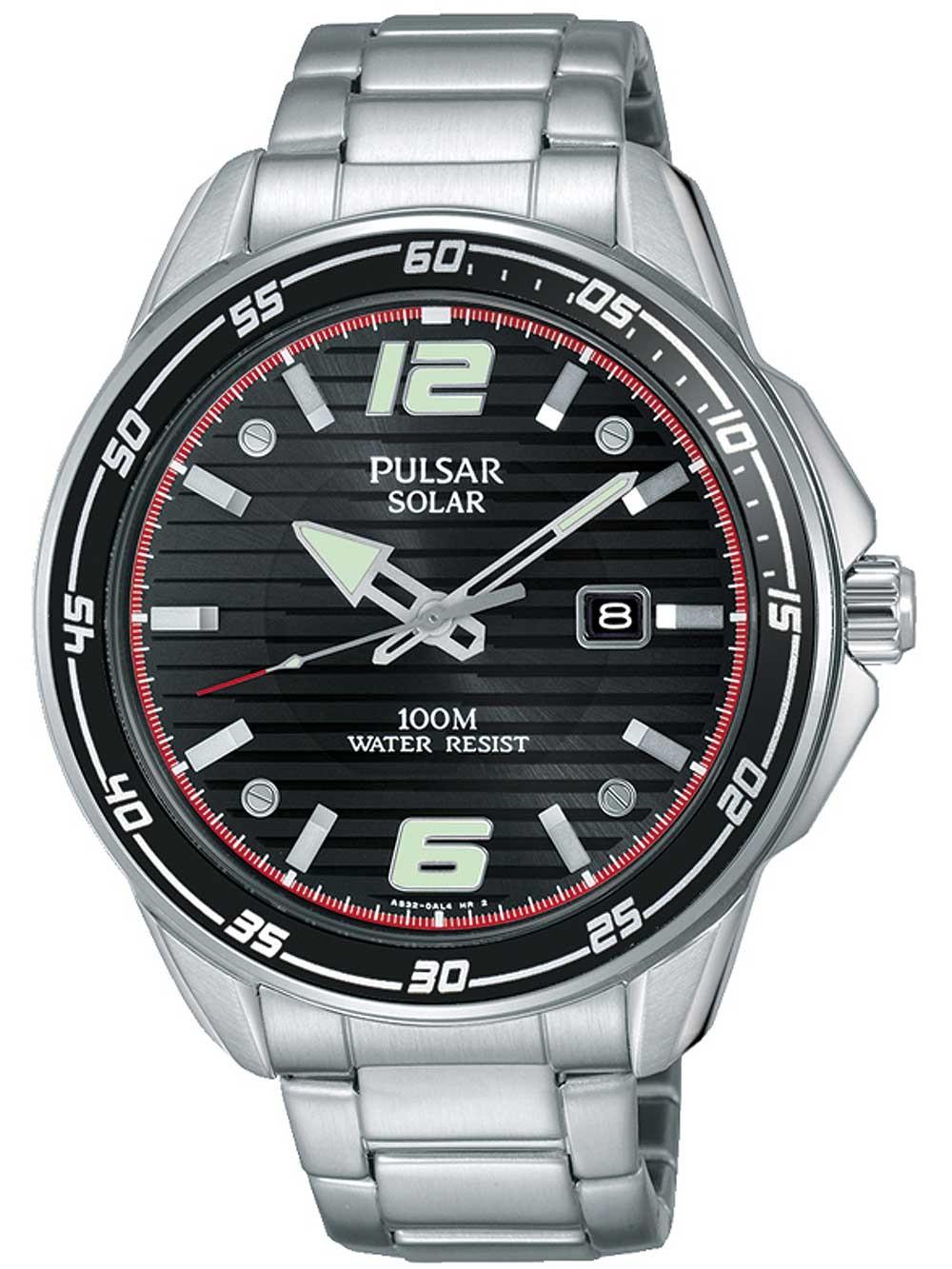 ceas barbatesc pulsar px3089x1 solar 43mm 10atm