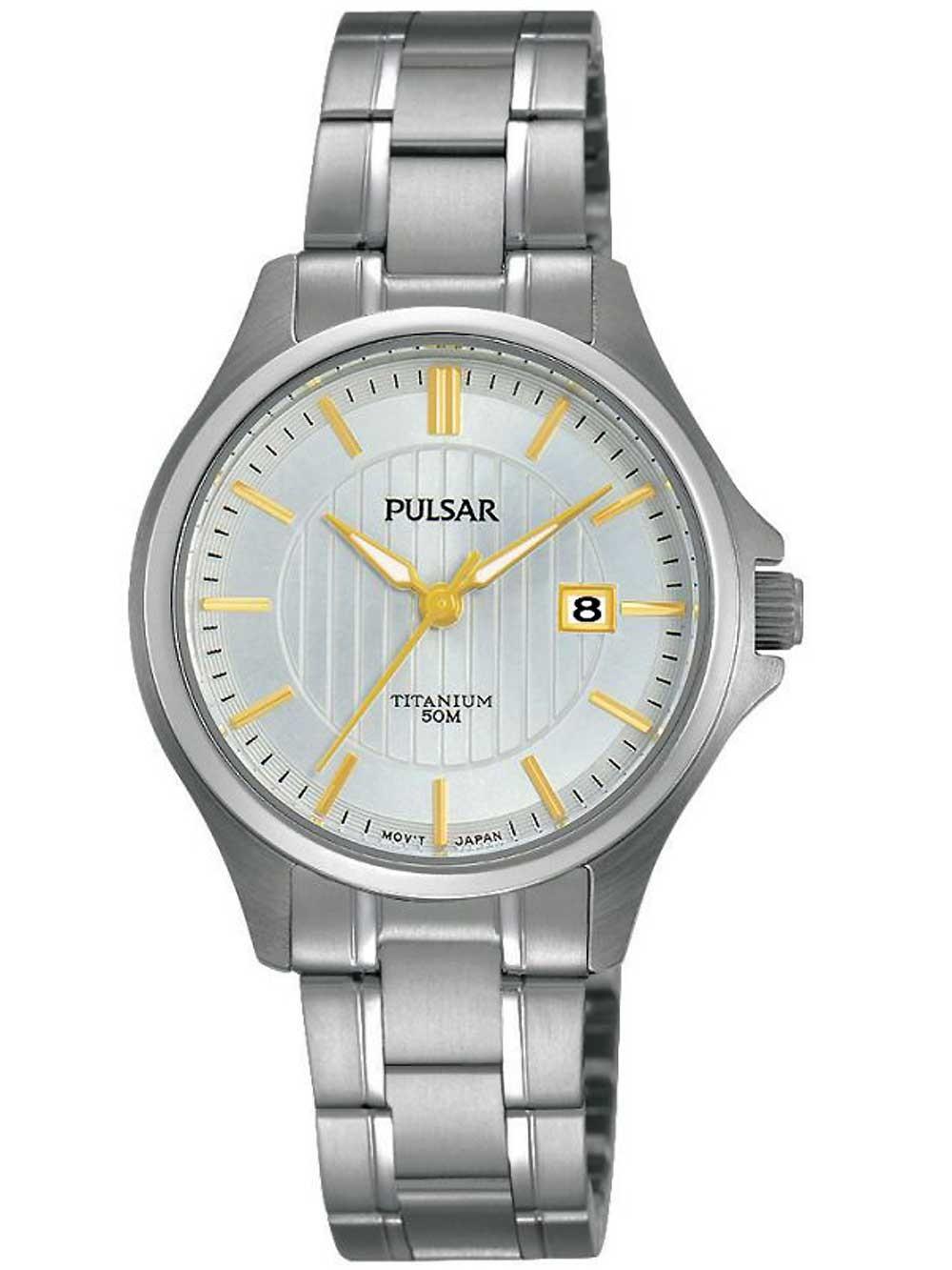 ceas de dama pulsar ph7435x1 titan 30mm 5atm