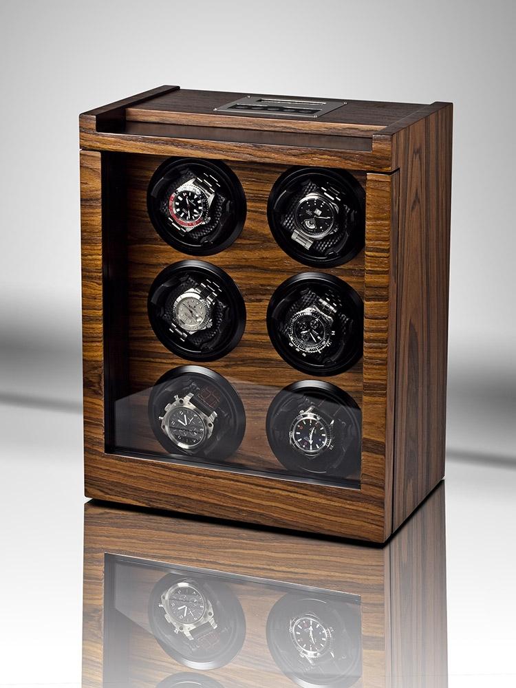 uhren chrono12 rothenschild uhrenbeweger trieste rs 2043 rsw fuer 6 uhren. Black Bedroom Furniture Sets. Home Design Ideas