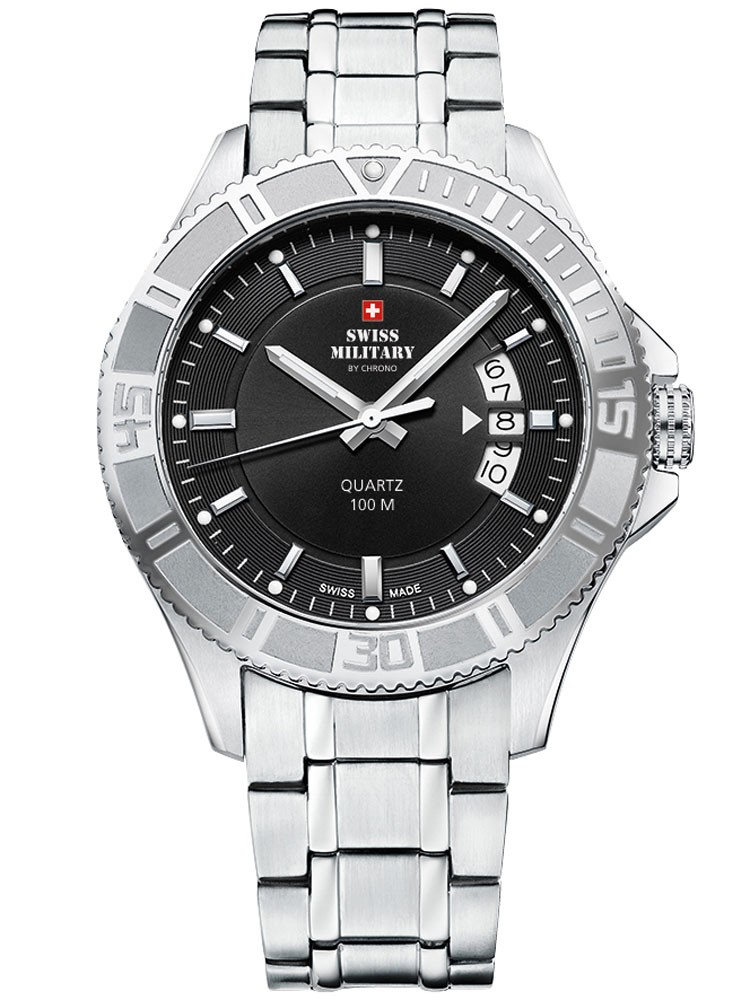 ceas barbatesc swiss military sm34041.01 10 atm, 42 mm