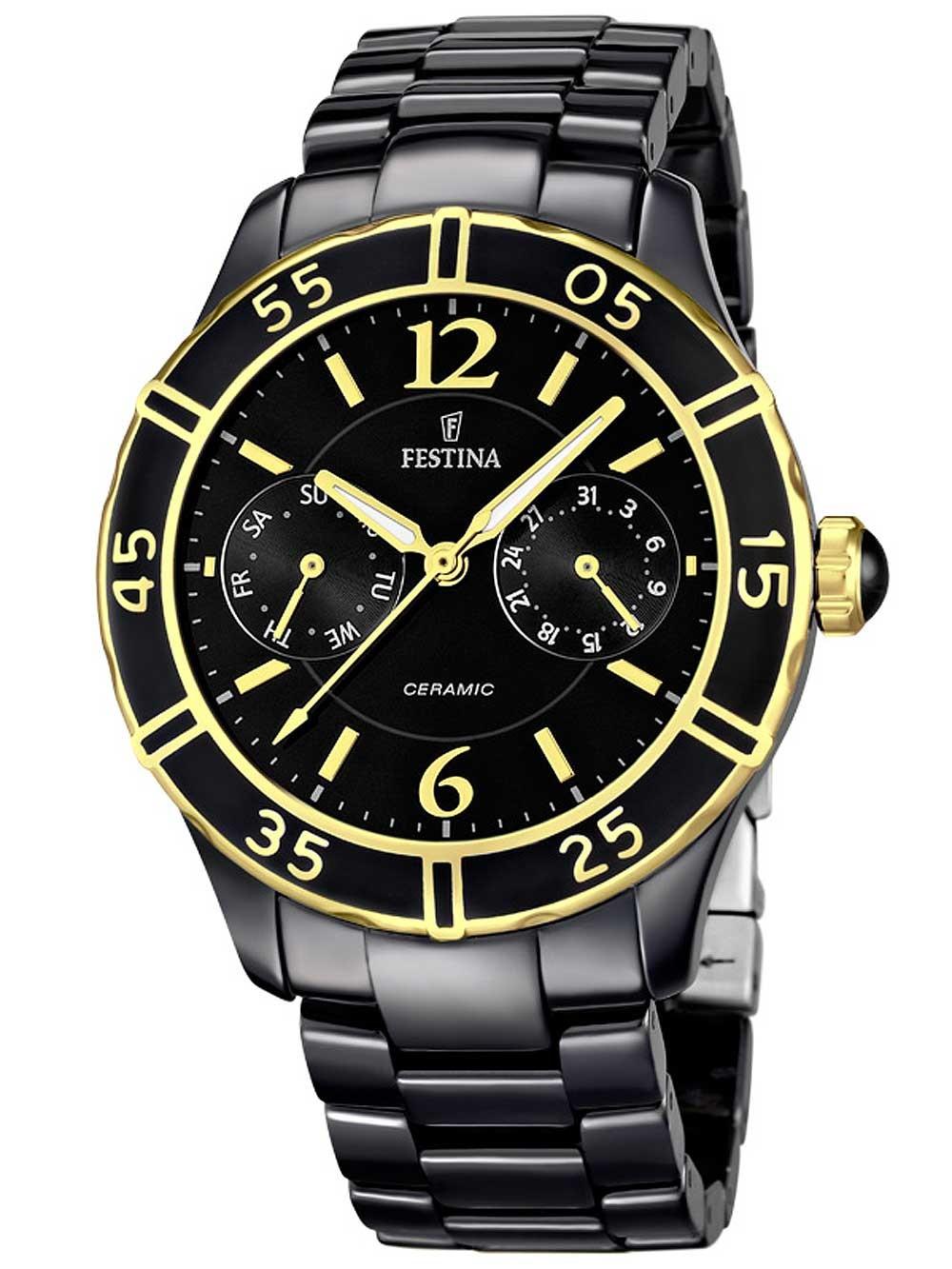 ceas de dama festina f16634/2 ceramic 38mm 5atm