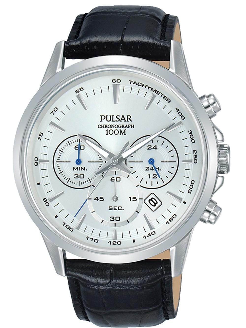 ceas barbatesc pulsar pt3917x1 chrono 42mm 10atm