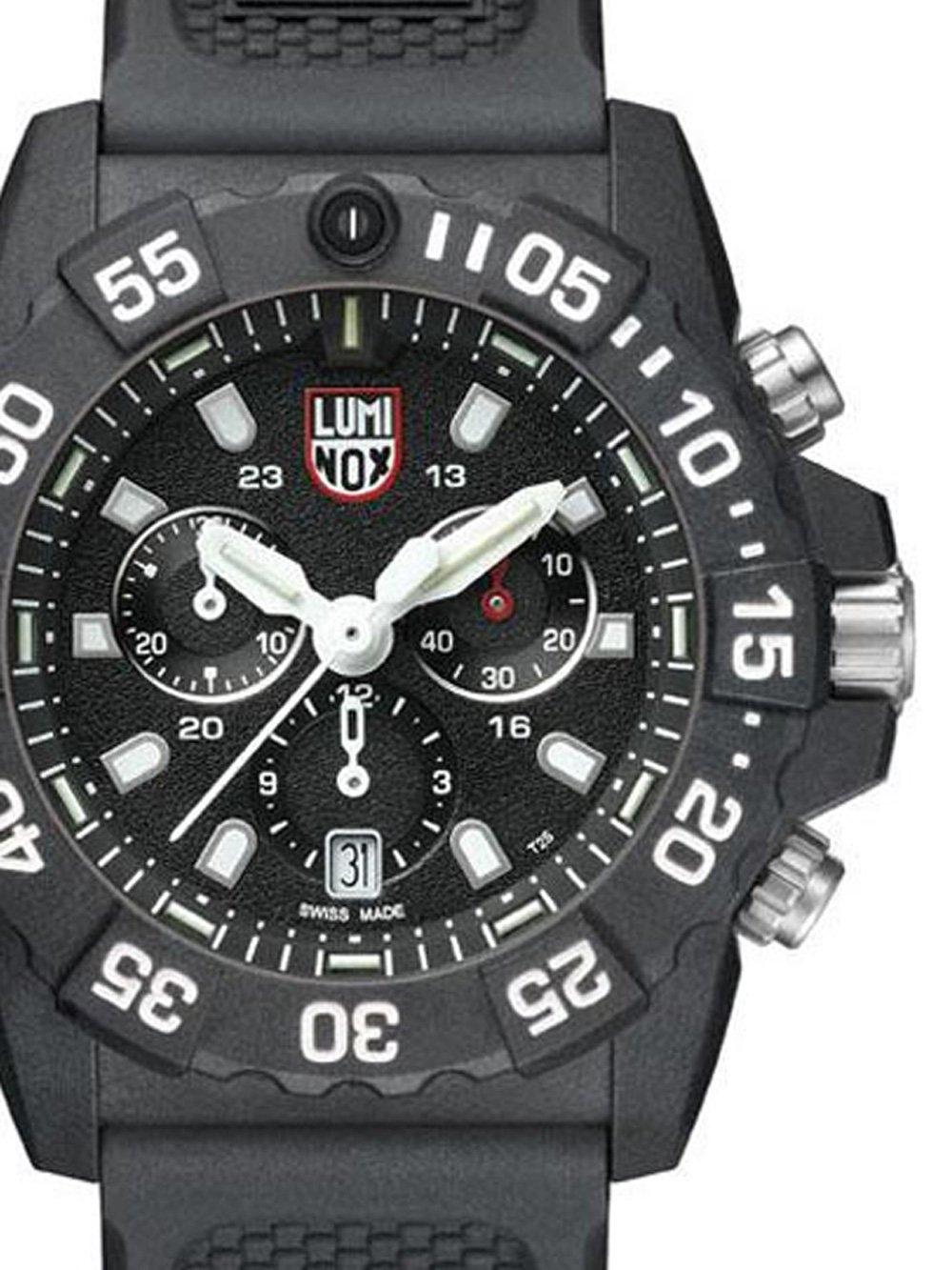 ceas barbatesc luminox xs.3581 navy seal chrono. 45mm 20atm
