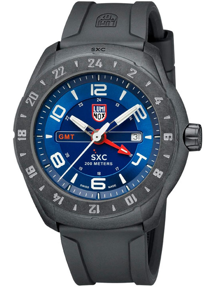 ceas barbatesc luminox sxc pc carbon gmt 5020 space series a.5023 45 mm 20 atm